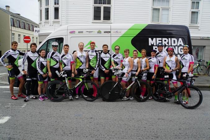 Team Merida Triathlon stilte mannsterke på årets konkurranse!